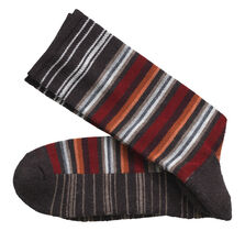 Wool-Blend Variegated Stripe Socks