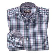 Slub Check Button-Down Collar Shirt