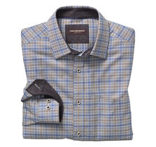 Slash Line Double Windowpane Point-Collar Shirt