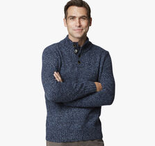 Quarter-Button Sweater