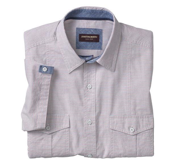 Horizontal Stripe Double-Pocket Shirt