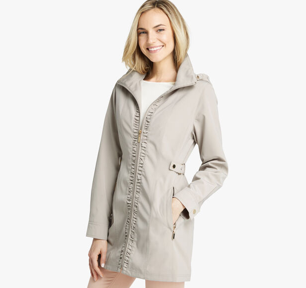 Ruched Hooded Jacket