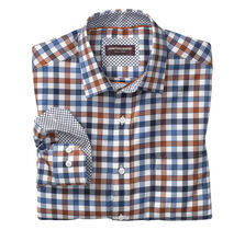 Multi Twill Gingham Point-Collar Shirt
