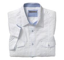Textured Stripe Camp Shirt