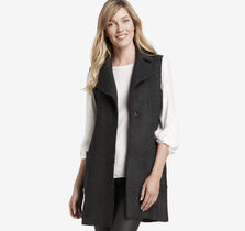 Long Textured-Wool Vest