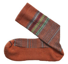 Wool-Blend Mini-Stripe Socks