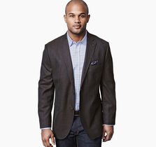 Large Windowpane Wool Blazer