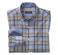 Large Plaid Oxford Button-Down Collar Shirt