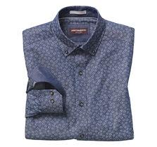 Floral-Print Denim Shirt