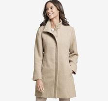 Herringbone-Textured Coat