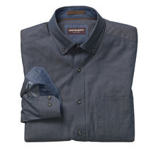 Dotted Square-Print Denim Shirt