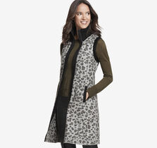 Long Cheetah-Print Vest