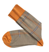 Multi-Textured Plaid Socks