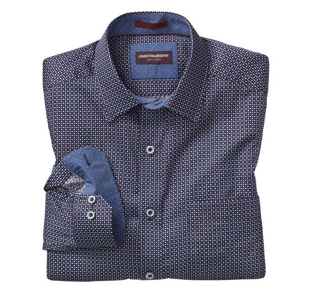 Alternating Squares Print Shirt