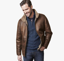 Faux-Shearling Aviator