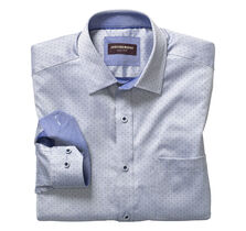 Tonal Dotted Herringbone Shirt