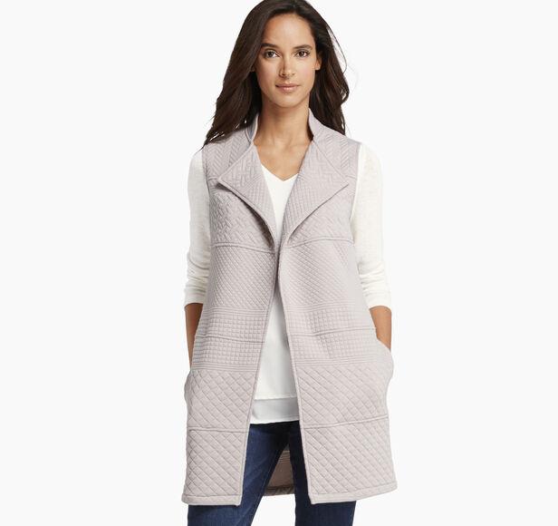 Mixed-Pattern Knit Vest