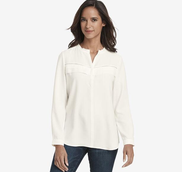 Pleat-Front Shirt