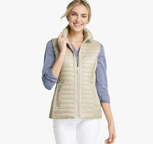 Knit-Back Quilted Vest
