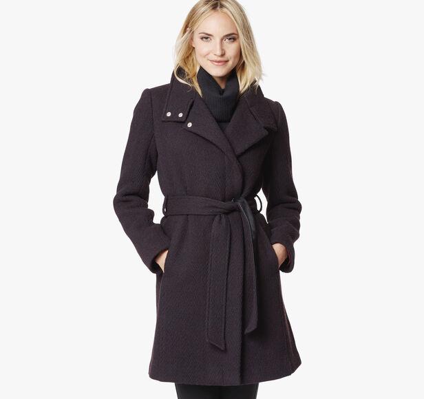 Diagonal Wool Jacket