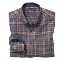 Layered Plaid Brushed-Cotton Button-Collar Shirt