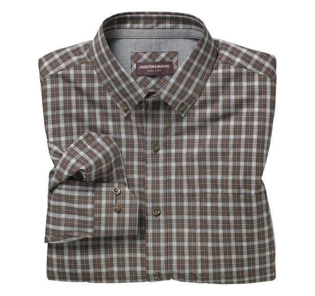 Layered Heather Check Shirt
