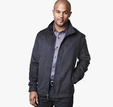 Perfed Microsuede Jacket