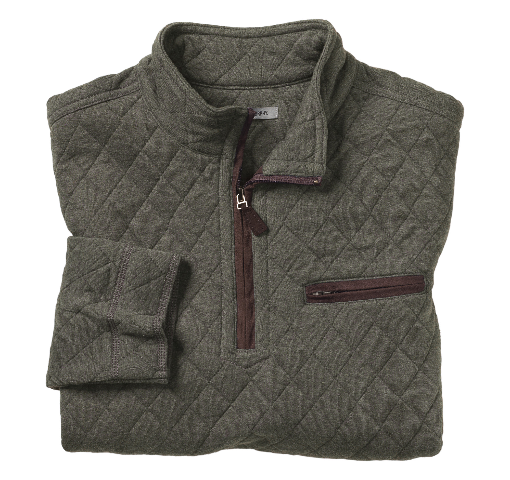 Quarter Zip Quilted Pullover Johnston Amp Murphy