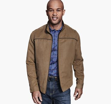 Textured Faux-Suede Jacket