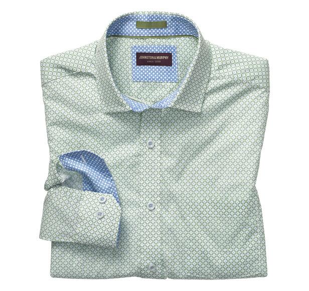 Dotted Diamond Dot Print Shirt