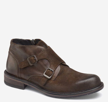 Lofting Double-Buckle Monk Strap Chukka