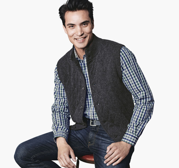 Quilted Sweater Vest