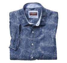 Palm Frond Linen Camp Shirt
