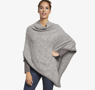 Brushed Heather Poncho