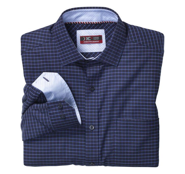 XC4® Dark Dash Grid Point-Collar Shirt