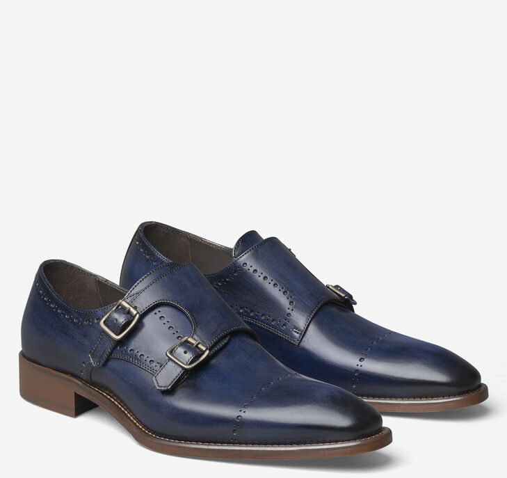 Reece Double-Buckle Monk Strap