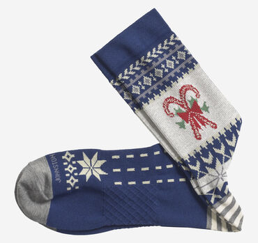 Ribbed Candy Cane Socks