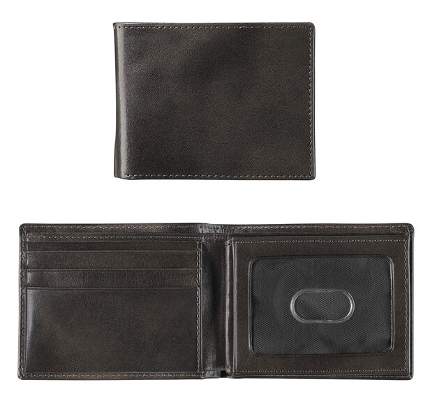 Italian Leather Flip Billfold Wallet
