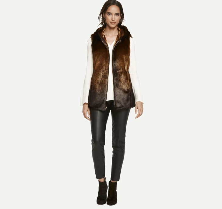 Faux-Fur Hooded Vest