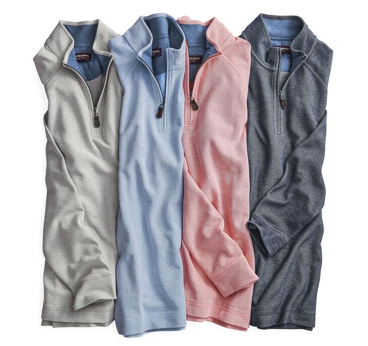 Cotton Knit Quarter-Zip