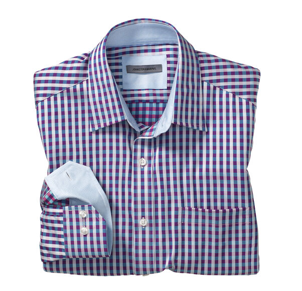 Tailored Fit Two-Tone Gingham Shirt