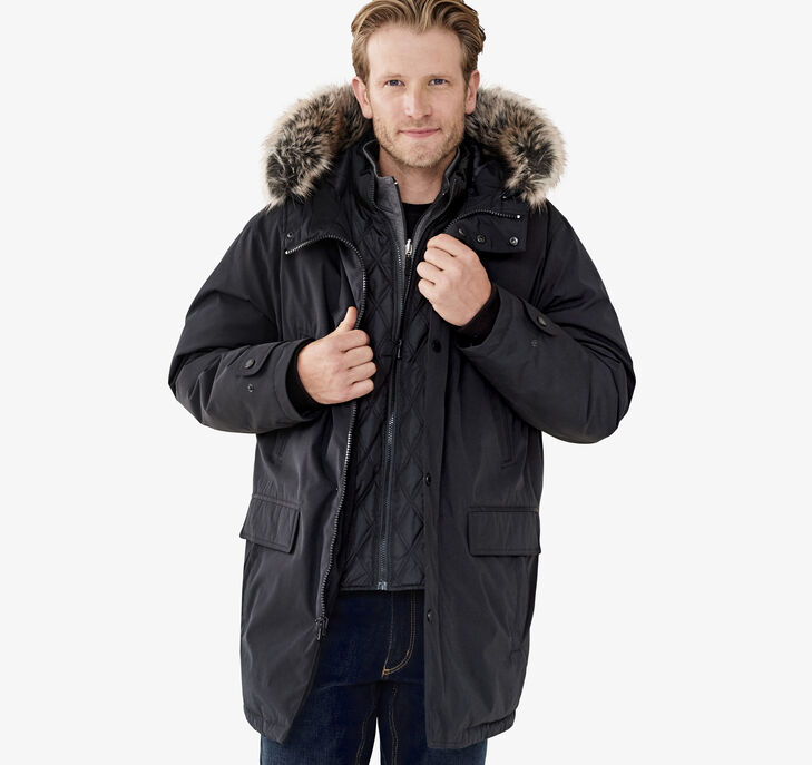 XC4® Faux-Fur Trimmed Hooded Parka