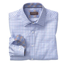 Dotted Windowpane Twill Point-Collar Shirt