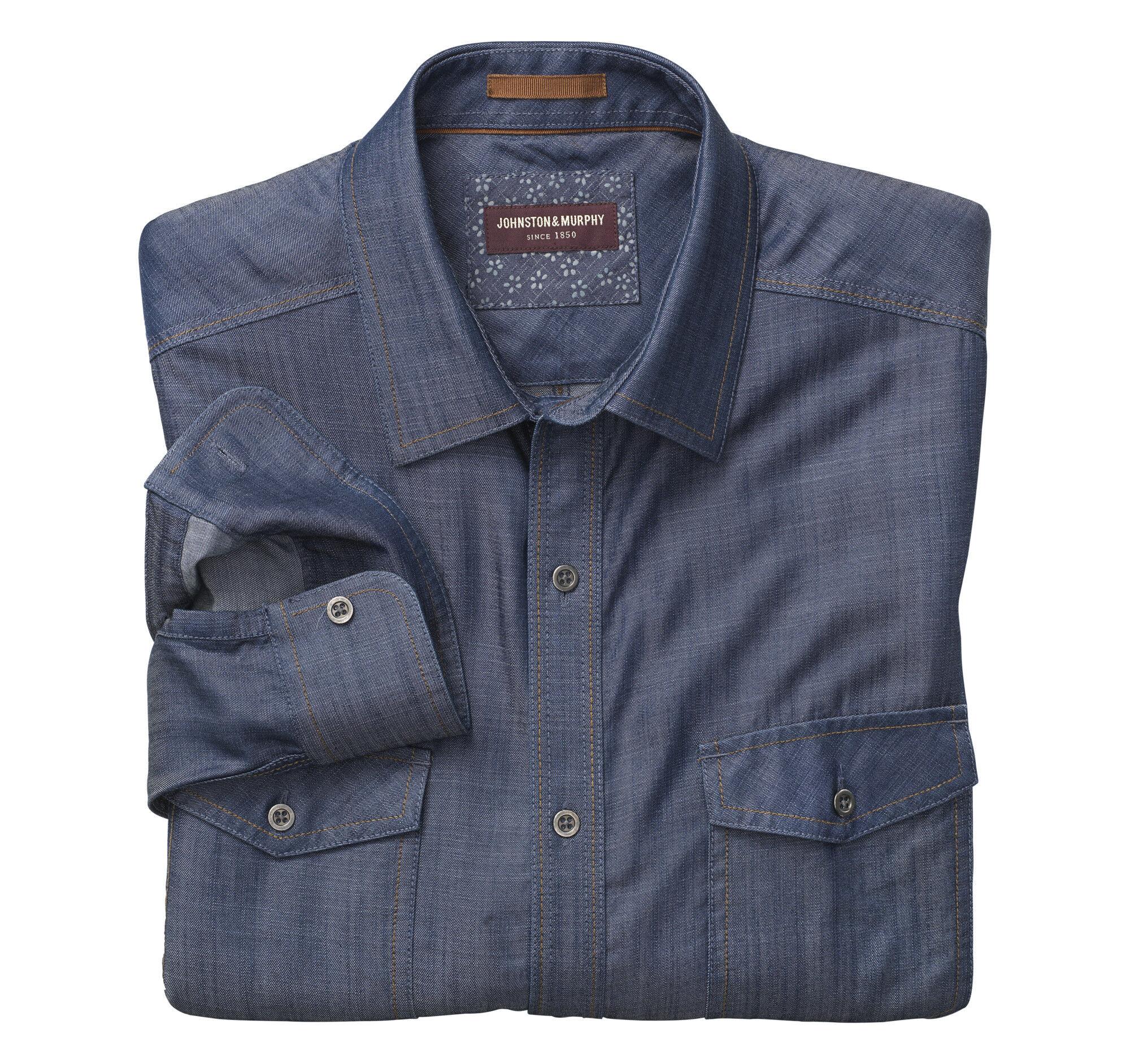 dadd7cff3dd6 Double-Pocket Denim Shirt | Johnston & Murphy