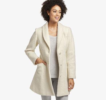 Boucle-Textured Coat
