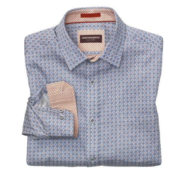 Stamp Tiles Print Shirt