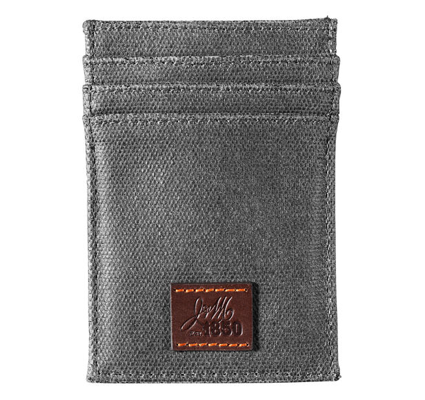 Est. 1850 Canvas Front Pocket Wallet