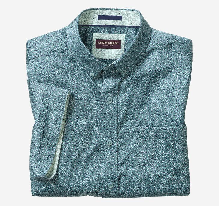 Shamrock Print Short-Sleeve Shirt