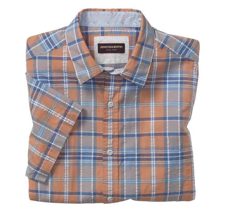 Short-Sleeve Seersucker Shirt