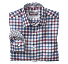Multi Twill Gingham Point-Collar Shirt